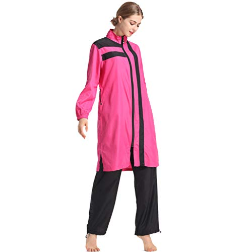 Xmansky Muslim konservative Damen Bademode mit Mützen dreiteilig, Badeanzug Beachwear Burkini Watersport/1PC Badekappe + 1PC Badeanzug + 1 PC Badehose -