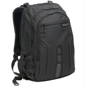 Targus tbb019us EcoSmart funda de transporte (mochila) para portátil de 17, color negro, verde–poliéster
