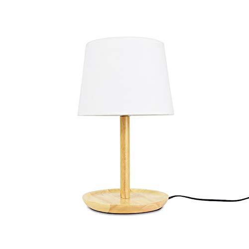 H.ZHOU Modern Nachttisch Lampen Wohnzimmer, Schlafzimmer Nachttischlampe Plug-in 220V Druckschalter 5W weißes Licht und warmes Licht Leselicht Schreibtisch Lernlicht (Color : Warm Light) -