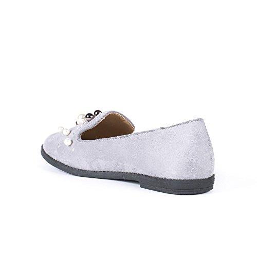 Effetto Pantofole Ideali Grigio Camoscio Scarpe Felicia Strass Tempestato Di x1YdxR5qw