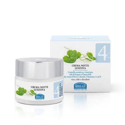 Helan - linea viso 4 crema notte lenitiva 50 ml [1 confezione] efficace | naturale | benessere quotidiano - [kit con integratore tonico-adattogeno in omaggio]