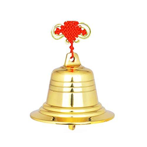 Lily Windspiel im Freien Reines Kupfer Kupfer Glocke Windspiel Hängen Glocken Anhänger Tür Dekoration Ornamente Heimtextilien Garten (Color : Gold) (Ballon-shop In Meiner Nähe)