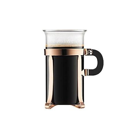Bodum Chambord - 2 Pcs Coffee Glass, Copper - Large