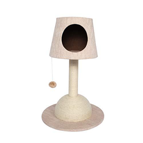 Kratzbäume Katze-Klettergerüst, Chenille-Gewebe Sisal-Katzen-Baum-Turm-Abnutzung und Kratzer beständig Mehrfarben wahlweise freigestellt (Farbe : Beige) -