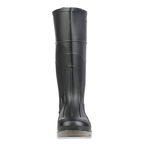 Honeywell Servus Iron Duke 15 PVC Polyblend Soft Toe Mens Work Boots, Black & Gray Black