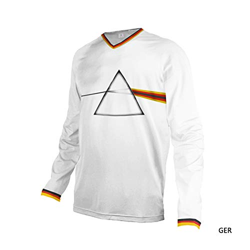 Uglyfrog Motocross Downhill Jersey Shirt Trikot Offroad Enduro Cross Herren T-Shirts Frühling Sommer Herbst Langarm/Kurze Ärmel Sweatshirts Top - Cross 1 T-shirts