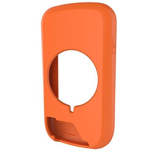 Radfahren Computer Fall Silikon Shell Gummi stoßfest Schutzhülle Case Cover für Garmin Edge 1000GPS Fahrrad-Computer Zubehör, Orange (Garmin-edge-bands)