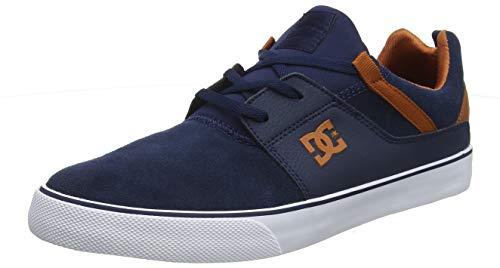 567ef3c4a7932 DC Shoes Men's Heathrow Vulc Skateboarding Shoes, Blue (Indigo Ind), 9.5 UK