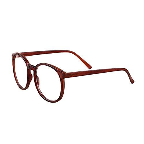 BFLHBBF Spiegeln Anti-Blu-Ray Nicht-Starke Gläser Optische Anti-Müdigkeit Große Runde Rahmen Lässige Brillen Unisex (Damen Herren)