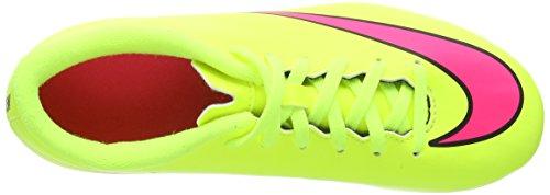 Nike  Mercurial Vortex II Fg-R, Entraînement Football Garçons Jaune - Yellow (Volt/Hyper Pink/Black)