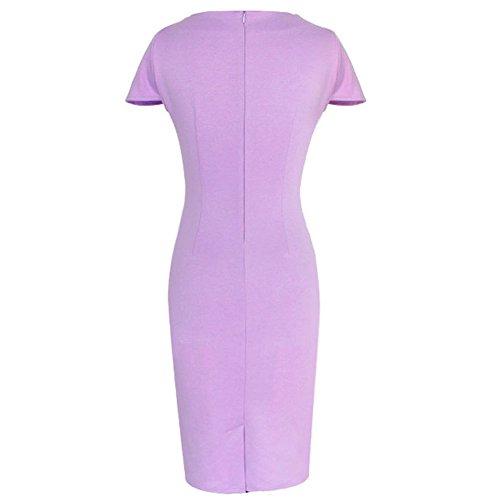 Pinkyee Damen Etui Kleid Violett