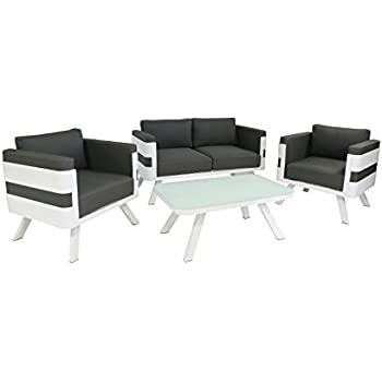 greemotion alu gartenlounge st tropez 4 teilig gartenm bel set aus aluminium in. Black Bedroom Furniture Sets. Home Design Ideas
