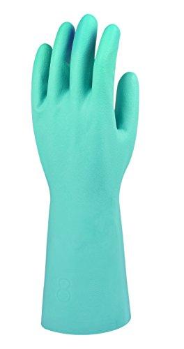 Ansell G915F Gants en nitrile, protection contre les produits chimiques et les liquides, Vert, Taille 11 (Sachet de 12 paires)
