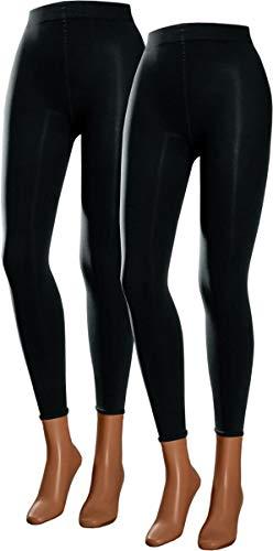 RS. Harmony | Leggings für Damen | Microfaser Glanz | 2 Stück | schwarz | 43132