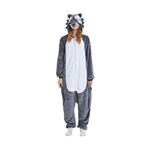 (NN IKEA Schlafanzug Tierkostüme Pyjamas Cartoon Cosplay Weihnachten Karneval,Gray,M)