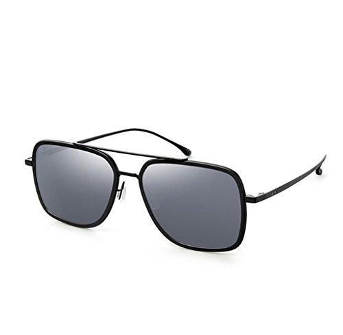 SHULING Sonnenbrille Offset des Guangcai Film Sonnenbrille, Stilvolle Und Einfache Sonnenbrille Rückspiegel, Schwarz/Grau, Slice