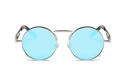 ZJWZ Europäischer und amerikanischer Stil Prince Spiegel Runde Sonnenbrille Bunte Retro-Sonnenbrille Frühlings Spiegel Beine universelle Brille,NO4