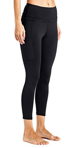 Stynice Leggings Damen Sporthose Lange Stretch Tights Fitnesshose mit Taschen Yogahose Jogginghose