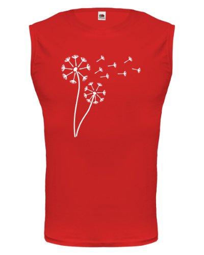 buXsbaum® Tank Top Pusteblume Red-White