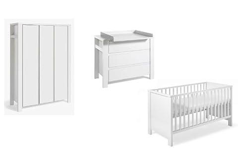 Armoire Milano 2 Portes - Chambre MILANO WHITE SCHARDT lit commode armoire