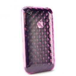 XQ-diamonds-coque de protection en silicone mauve pour iPhone 3 g/3GS