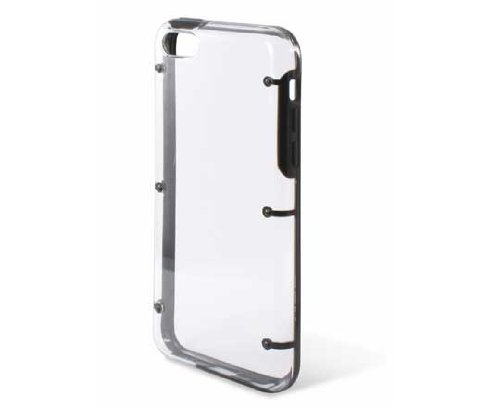 Ksix bord Coque rigide pour iPhone 5 C – Transparent Noir Noir transparent
