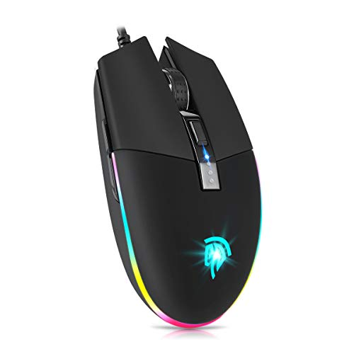 EasySMX Gaming Mouse, V50 Wired RGB Gaming Mouse con 16.8 Milliones Opciones...