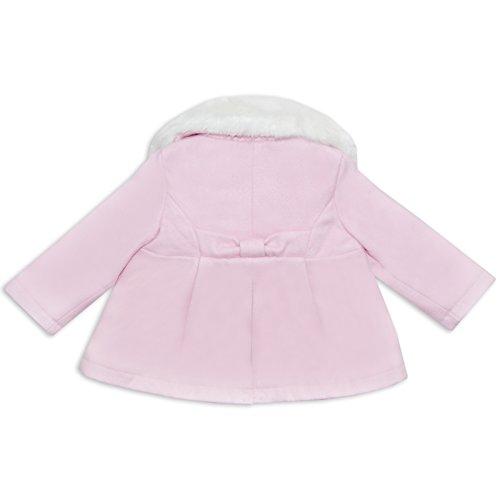 Da Bambine in pelliccia sintetica cappotto ideale per inverno lana di Chloe Louise in crema o rosa rosa Pink/Cream 5-6 anni