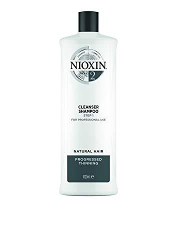 Nioxin System 2 Cleanser Shampoo - Innovatives 3-Stufen System - Für naturbelassenes, sichtbar dünner werdendes Haar -