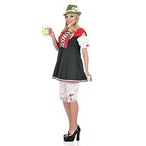 WIDMANN Señoras Traje Vestido bávaro Extra Large UK 18-20 para Programas de Dibujos Animados y Cine Vestido