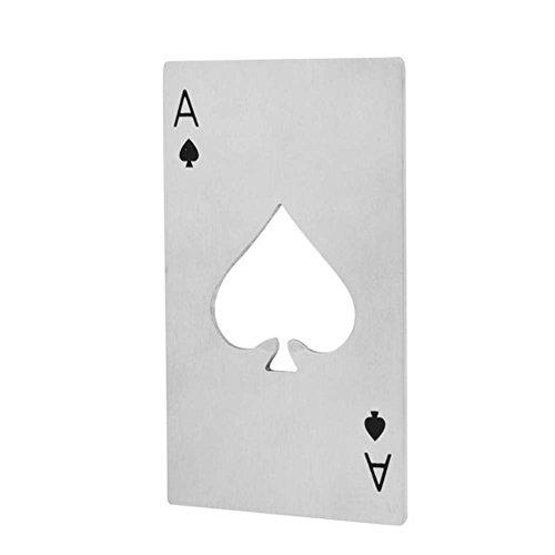 (Fayear Edelstahl Card Poker Soda Bier Flaschenöffner Öffner Geschenk Ideen)