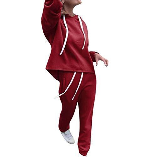 INFINI BEAU Survetement Femmes Ensemble Jogging pour Tenue de Foot Sport Pantalon de Noël Doux Pas Cher Hoodie Veste Vêtements