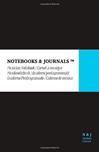 Quaderni Pentagrammati Notebooks & Journals, Large, Nero, Soft Cover: (13.97 x 21.59 cm)(Quaderni Musica, Pentagrama, Taccuino Musica)