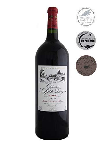 MAGNUM - CHATEAU LAFFITTE LAUJAC - Grand Vin Rouge Bordeaux Médoc - 88/100 - Cru Bourgeois in 1932- AOP Médoc 2015. 1,5L
