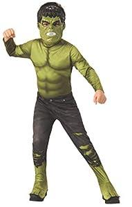 Rubies - Disfraz Infantil Oficial de Los Vengadores Endgame Hulk, Talla S, Edad 3 - 4, Altura 117 cm