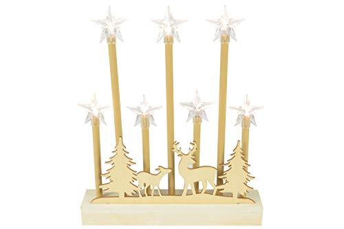 Lyyt - Escena Reno nórdico Luces Estrella decoración