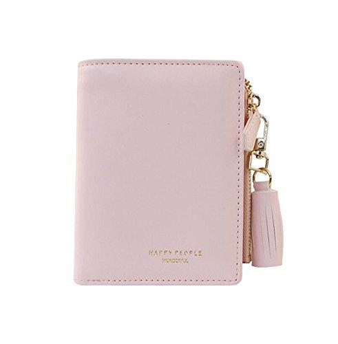 Diyafas portafoglio in pelle pu per donne nappa portamonete porta monete borsetta sacchetto con cerniera