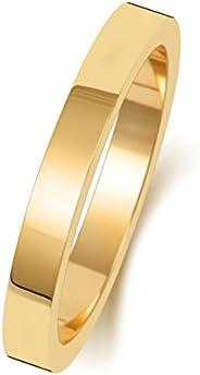 Anello Fede Nuziale Uomo/Donna 2,5mm in Oro giallo 9k (375) WJS188529KY
