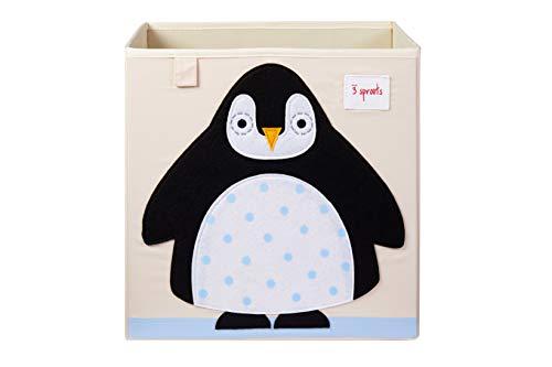3 Sprouts Aufbewahrungsbox Ordnungskiste Pinguin 13 x 13 x 13 cm (Sprouts Aufbewahrungsbox)