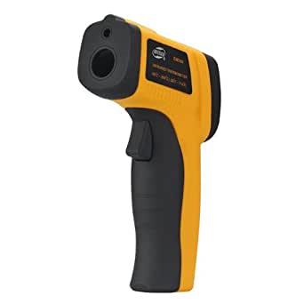 SainSonic SS300 Pistolet Themometre Laser Infrarouge Lecture Rapide Large Variation Temperature (-50 a 380 degres) Sans Contact