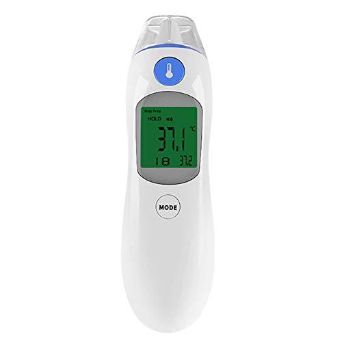 Creator-Z Thermometer Für Kinder Und Erwachsene - Für Ohren Und Kopf - Hohe Präzision Für Erwachsene Und Babys - Hochtemperaturthermometer - Ohrmodus Und Trommelfellmodus (Zeitmodus),Blau
