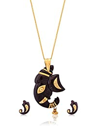 Senco Gold Coconut Shell and 22K Gold Fusion Jewellery Set for Women