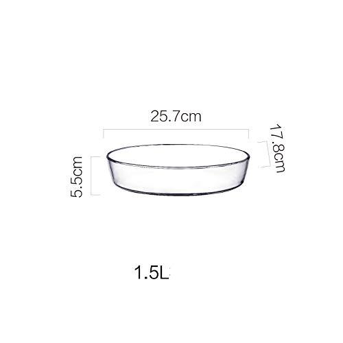 GYXYZS Backblech Aus Gehärtetem Glas Heizblech Mikrowellen-Backblech Haushalt - Glas 10 Zoll Mikrowelle