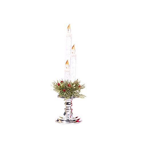 FORH Dekoration 1pcs Kerzen Weihnachtsgeschenk Flammenlose Kerzen batteriebetriebene Kerzen Säule Echtwachskerzen Nightlights in Kunststoffhülle für Dekorations zB Party, Hochzeit, Tisch