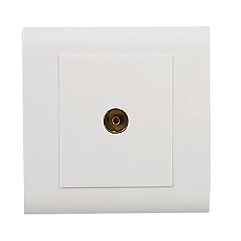 sourcingmap® 1 Gang TV Socket Mounting Coaxial Outlet Wall Plate