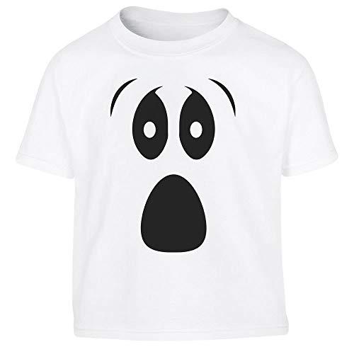 Halloween Kostüm Kids Shirt Geistergesicht Kleinkind Kinder T-Shirt - Gr. 86-116 106/116 (5-6J) Weiß