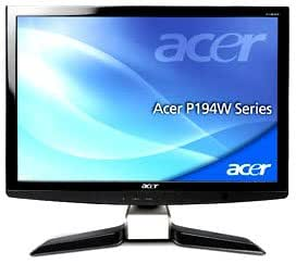"Acer P4 Série P194WAb Ecran PC LCD 19"" Crystalbrite 10 000:1 5 ms VGA Noir laqué"