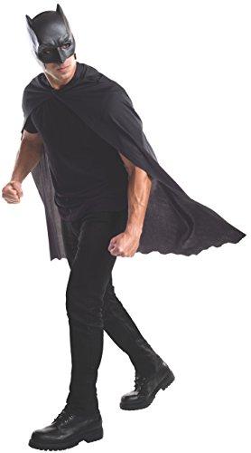 Adult Batman Kostüm - Rubie's Batman-Maske und Umhang für Erwachsene, offizielles Produkt, Einheitsgröße, Schwarz