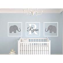 Personalisierte Namen-Wandsticker Süßer Elefant-Wand-Aufkleber Aufkleber für das Kinderzimmer für Baby-Dusche Wand-Dekoration