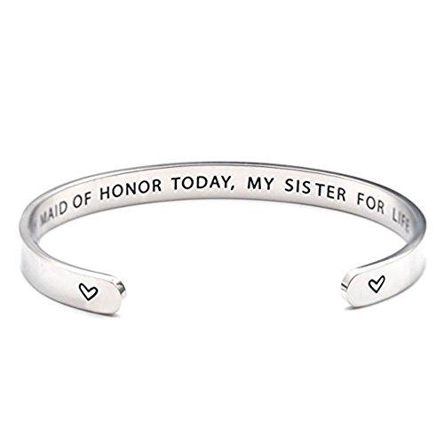 Imagen de pulsera de regalo para madre de honor con texto en inglés
